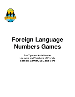 Foreign Language Numbers Games