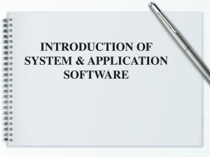 introduction of system & application software