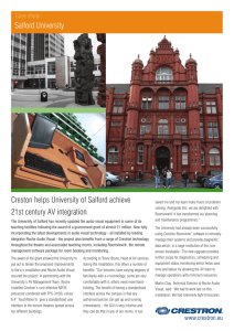 Creston helps University of Salford achieve 21st century