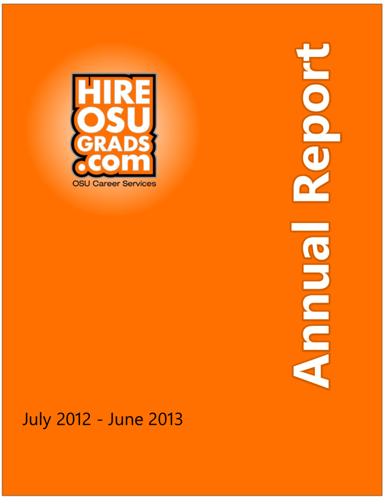 OSU Career Services Annual Report FY2012