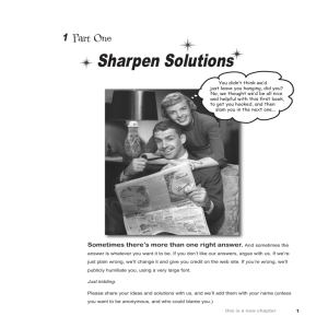 Sharpen Solutions