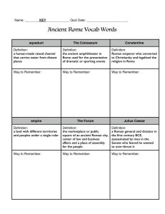 Ancient Rome Vocab Words - Hudsonville Public Schools