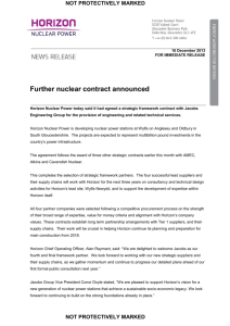 Document Title - Horizon Nuclear Power