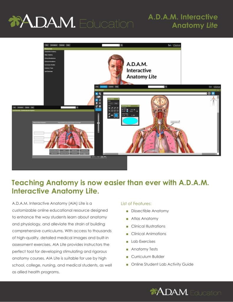 Adam Interactive Anatomy Lite