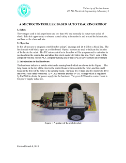 a microcontroller based auto tracking robot