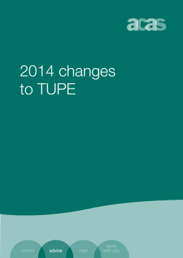 2014 changes to TUPE