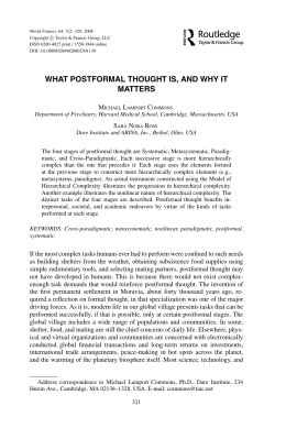 what postformal thought is, and why it matters