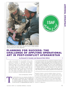 planning for success: the challenge of applying operational art in