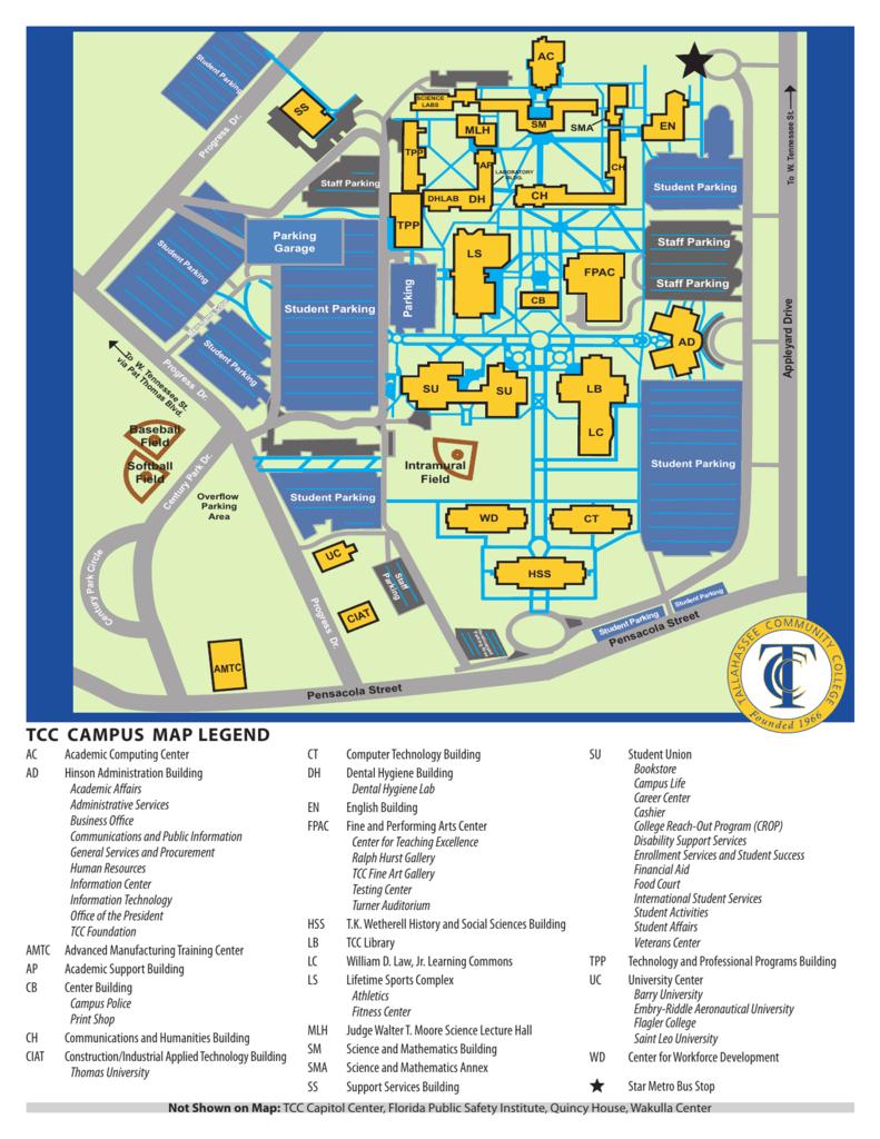 tcc campus map legend   Florida History Fair