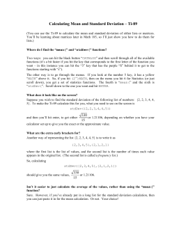 Comparing two proportions calculating mean and standard deviation ti 89 ccuart Choice Image