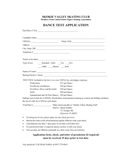 dance test application - Skokie Valley Skating Club