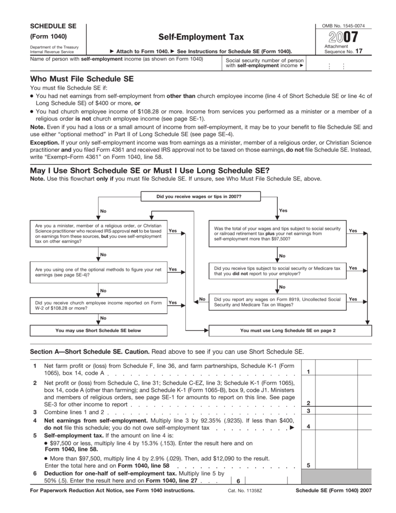 form 1040 schedule se  13 Form 13 (Schedule SE) - The Benefit Bank: Self