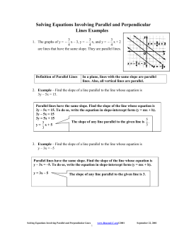 This File Will Contain Solving Equations Involving Parallel And