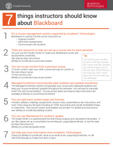things instructors should know about Blackboard