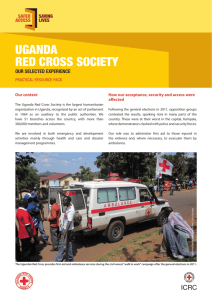 Selected experience: Uganda Red Cross Society