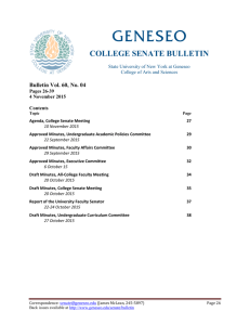 COLLEGE SENATE BULLETIN