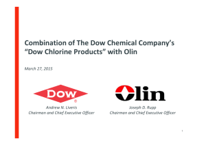 The Dow Chemical Company and Olin Corporation Announcement