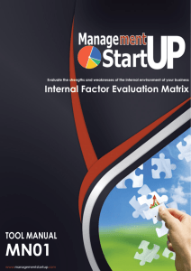 Internal Factor Evaluation Matrix - Home
