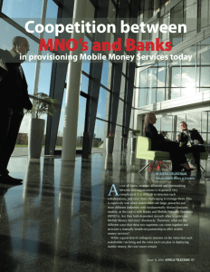 Coopetition between MNO's and Banks