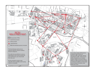 Walk Times map at NCSU