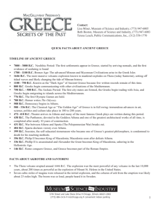 QUICK FACTS ABOUT ANCIENT GREECE TIMELINE OF ANCIENT