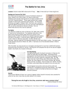 Iwo Jima Fact Sheet - The National WWII Museum