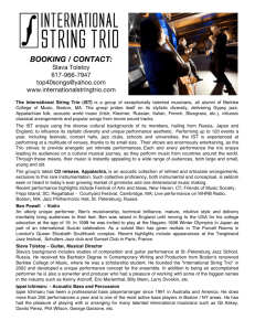 Group Bio & Members Bio - The International String Trio official