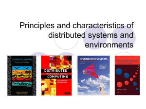 Principles and characteristics of distributed systems and environments