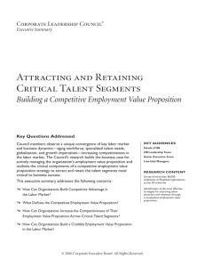 Attracting and Retaining Critical Talent Segments