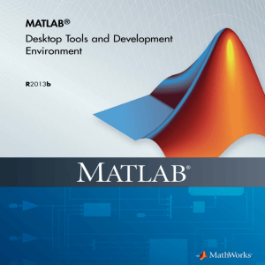 Exercise 1: MATLAB warm-up Create yourself new course folder
