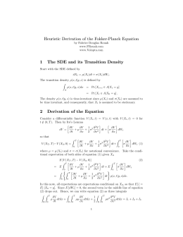 Derivation of the Fokker-Planck equation