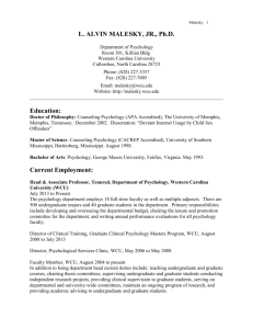 Curriculum Vitae - Western Carolina University