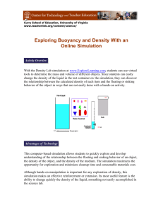 Exploring Buoyancy and Density With an Online Simulation