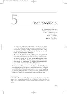 5 Poor leadership - London Business School