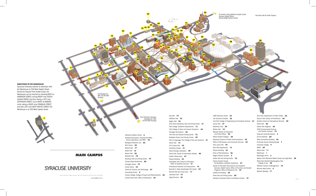 Map Syracuse University