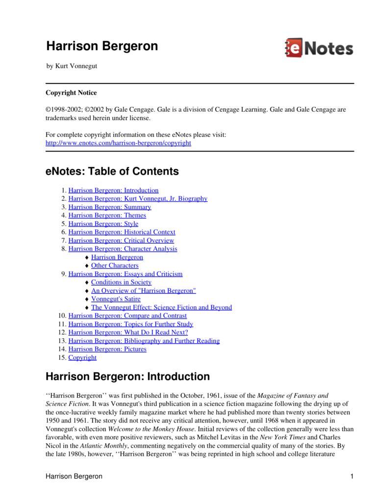 harrison bergeron pdf