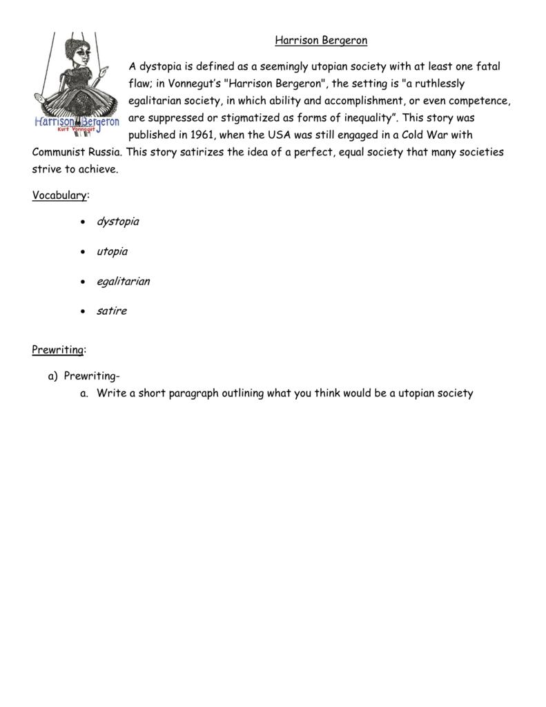 Harrison Bergeron-student worksheet
