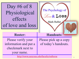 The Psychology of Love -