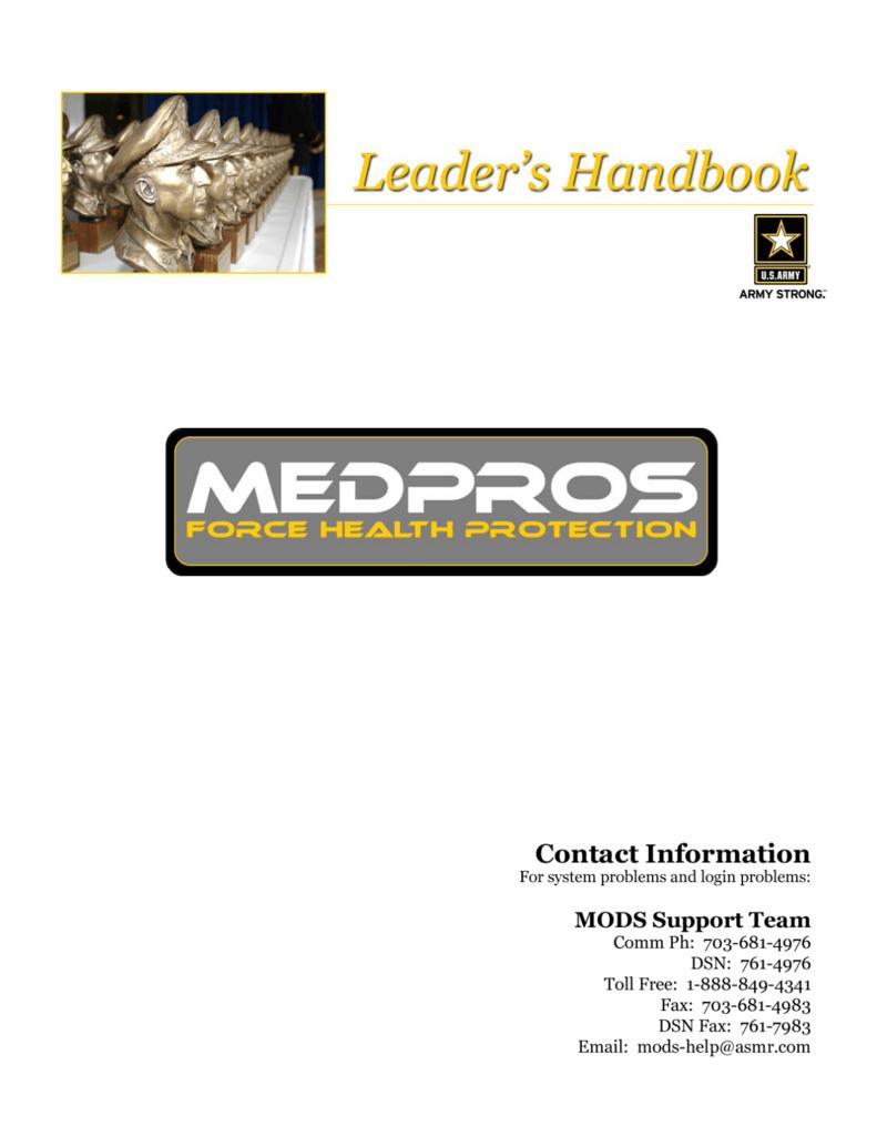 Medpros Help Desk Photos Gallery Leaders Handbook 30 May 2007