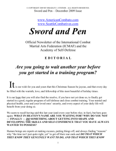 Sword and Pen - American Combato
