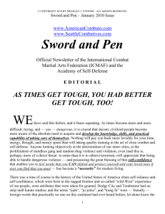 January 2010 - Sword and Pen
