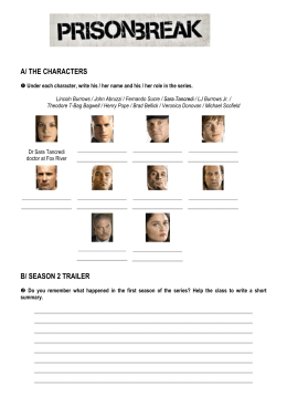 Prison Break worksheet