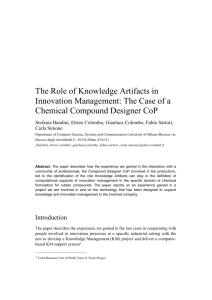 The Case of a Chemical Compound Designer CoP