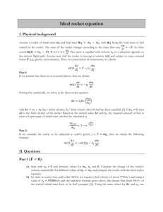 Ideal rocket equation report
