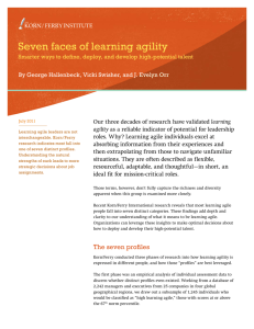 Seven faces of learning agility