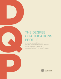 Degree Qualifications Profile
