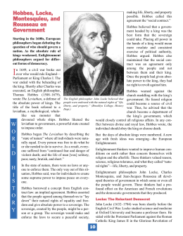 Hobbes, Locke, Montesquieu, and Rousseau on Government