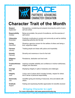 Character Trait of the Month