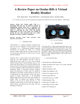 A Review Paper on Oculus Rift-A Virtual Reality Headset