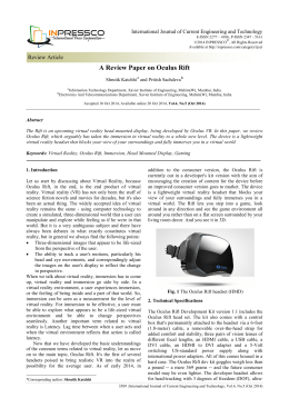 A Review Paper on Oculus Rift